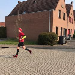 Pendant le semi-marathon, dans Lezennes