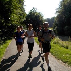 entrainement trail au Parc du Héron