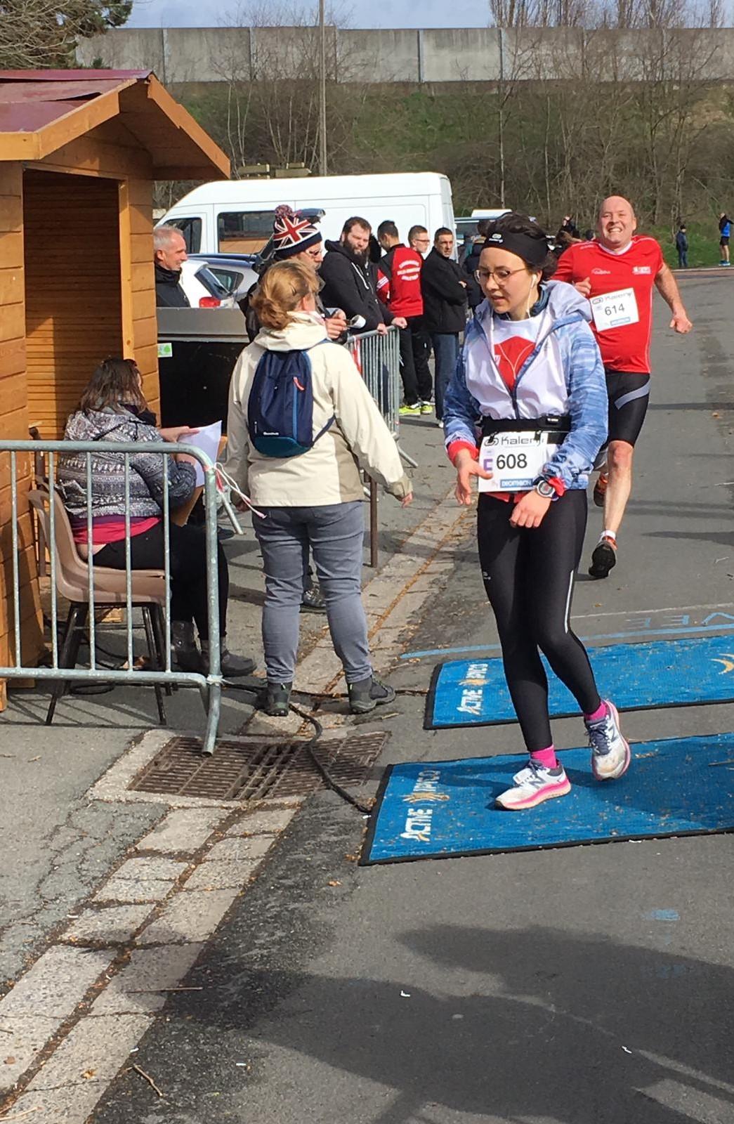 A l'arrivée du semi-marathon