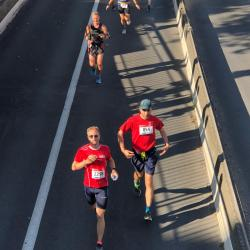 Pendant le semi-marathon