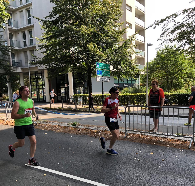 Pendant le semi-marathon, c'est presque la fin !